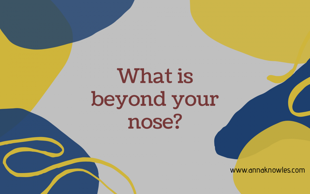 What is beyond your nose?
